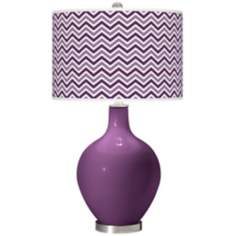 Kimono Violet Narrow Zig Zag Ovo Table Lamp