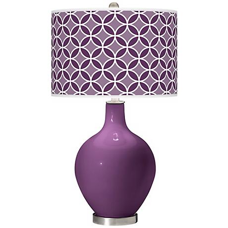 Kimono Violet Circle Rings Ovo Table Lamp