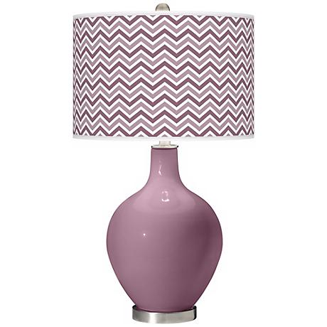 Plum Dandy Narrow Zig Zag Ovo Table Lamp