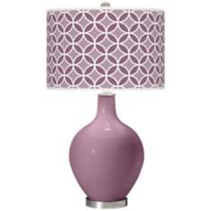 Plum Dandy Circle Rings Ovo Table Lamp
