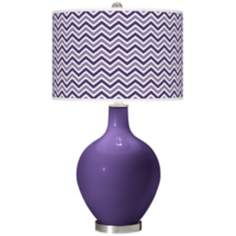 Izmir Purple Narrow Zig Zag Ovo Table Lamp