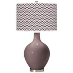 Deepest Mauve Narrow Zig Zag Ovo Table Lamp