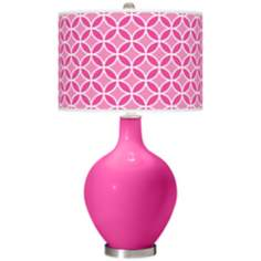 Fuchsia Circle Rings Ovo Table Lamp