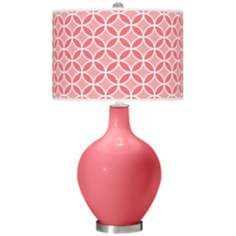 Rose Circle Rings Ovo Table Lamp