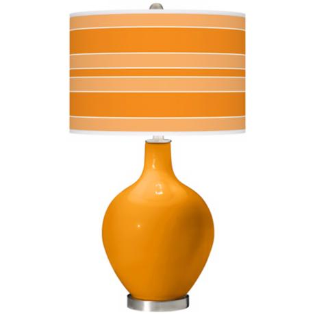 Mango Bold Stripe Ovo Table Lamp