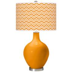 Mango Narrow Zig Zag Ovo Table Lamp