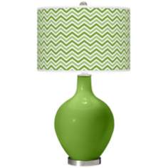 Rosemary Green Narrow Zig Zag Ovo Table Lamp