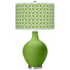 Rosemary Green Circle Rings Ovo Table Lamp
