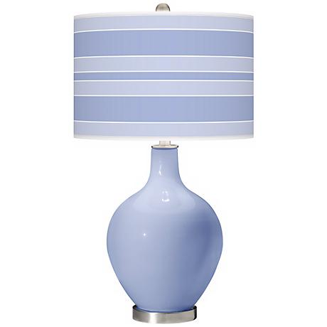 Lilac Bold Stripe Ovo Table Lamp