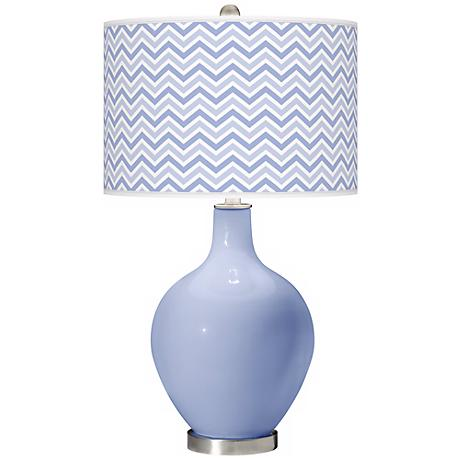 Lilac Narrow Zig Zag Ovo Table Lamp