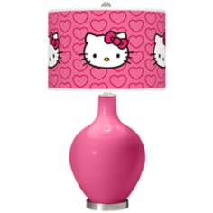 Blossom Pink Hello Kitty Hearts Ovo Table Lamp