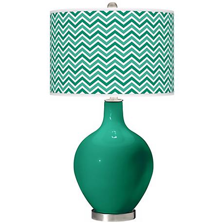 Leaf Narrow Zig Zag Ovo Table Lamp