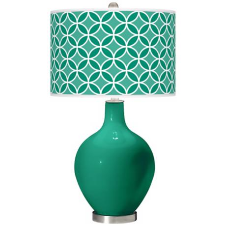 Emerald Circle Rings Ovo Table Lamp