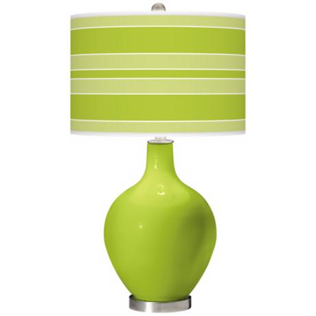 Tender Shoots Bold Stripe Ovo Table Lamp