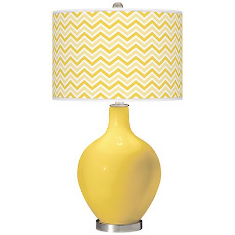 Lemon Zest Narrow Zig Zag Ovo Table Lamp