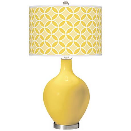 Lemon Zest Circle Rings Ovo Table Lamp
