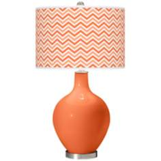 Nectarine Narrow Zig Zag Ovo Table Lamp