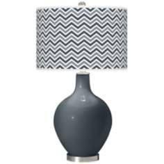 Outer Space Narrow Zig Zag Ovo Table Lamp