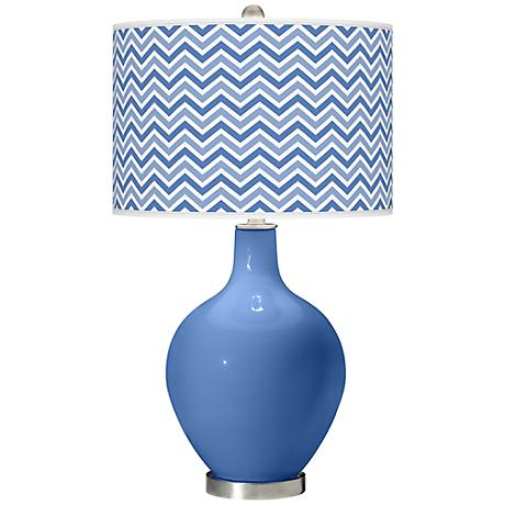 Dazzle Narrow Zig Zag Ovo Table Lamp