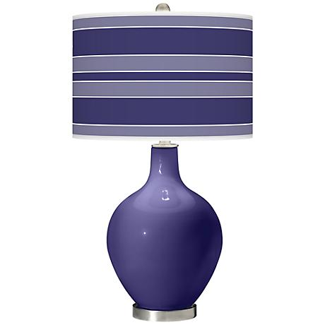 Valiant Violet Bold Stripe Ovo Table Lamp