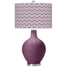 Grape Harvest Narrow Zig Zag Ovo Table Lamp