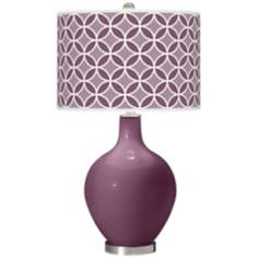 Grape Harvest Circle Rings Ovo Table Lamp