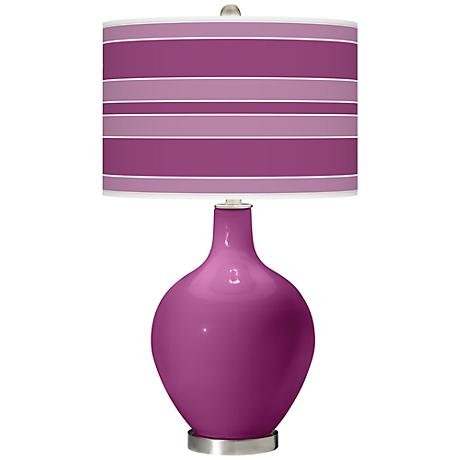 Verve Violet Bold Stripe Ovo Table Lamp