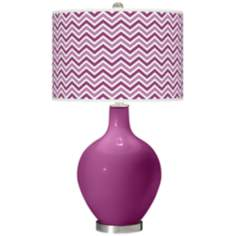 Verve Violet Narrow Zig Zag Ovo Table Lamp