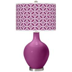 Verve Violet Circle Rings Ovo Table Lamp