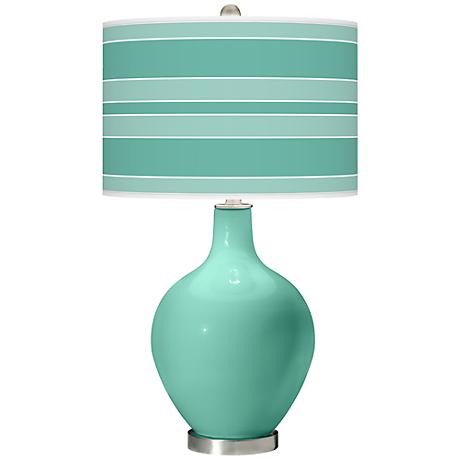Larchmere Bold Stripe Ovo Table Lamp