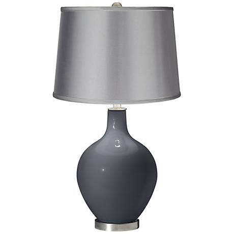 Turbulence - Satin Light Gray Shade Ovo Table Lamp