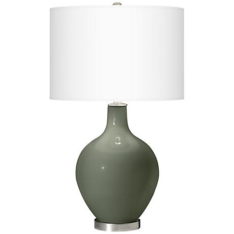 Deep Lichen Green Ovo Table Lamp