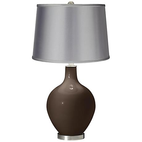 Carafe - Satin Light Gray Shade Ovo Table Lamp