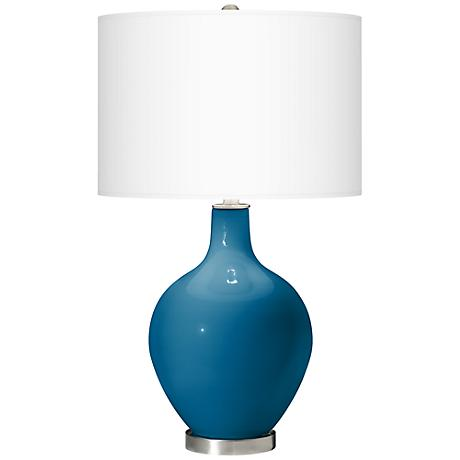 Mykonos Blue Ovo Table Lamp