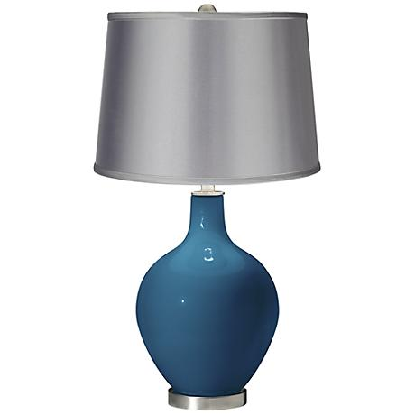 Bosporus - Satin Light Gray Shade Ovo Table Lamp