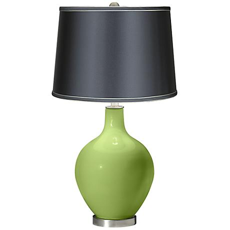 Lime Rickey - Satin Dark Gray Shade Ovo Table Lamp