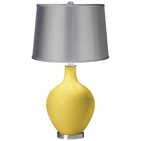 Daffodil - Satin Light Gray Shade Ovo Table Lamp
