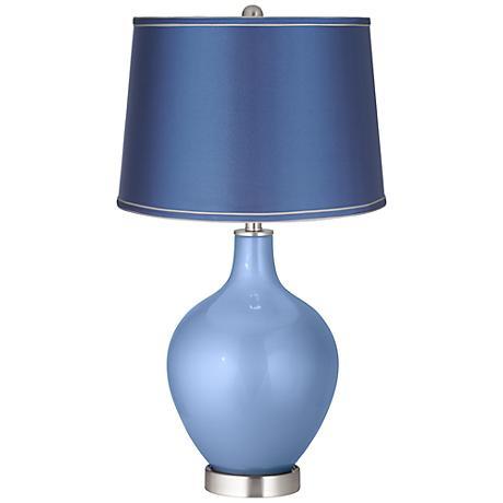 Tempest Metallic - Satin Blue Shade Ovo Table Lamp