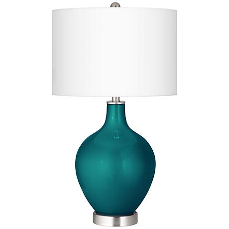 Magic Blue Metallic Ovo Table Lamp