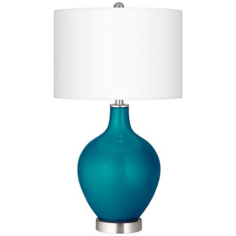 Turquoise Metallic Ovo Table Lamp