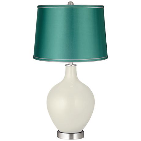 Vanilla Metallic - Satin Sea Green Shade Ovo Lamp