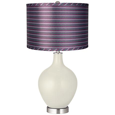 Vanilla Metallic - Purple Zig Zag Shade Ovo Lamp