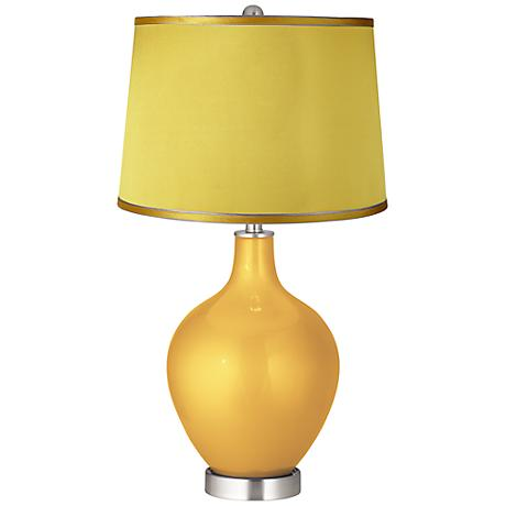 Sunshine Metallic - Satin Yellow Shade Ovo Table Lamp