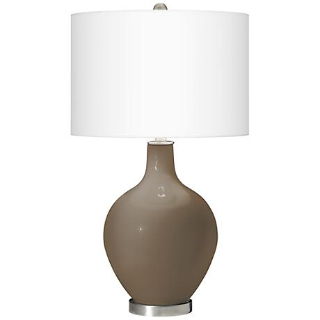 Cobble Brown Ovo Table Lamp