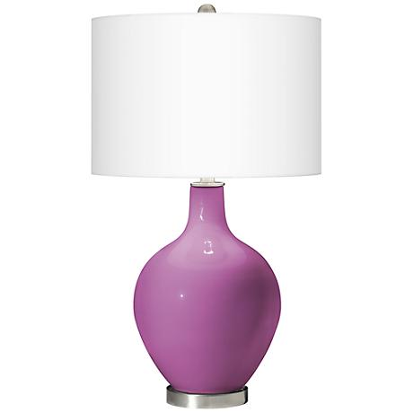 Pink Orchid Ovo Table Lamp