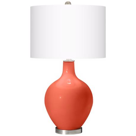 Modern Orange Ovo Table Lamp