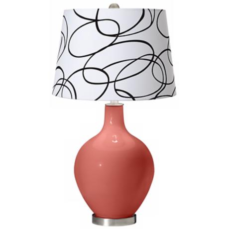 Coral Reef Squiggle Shade Ovo Table Lamp