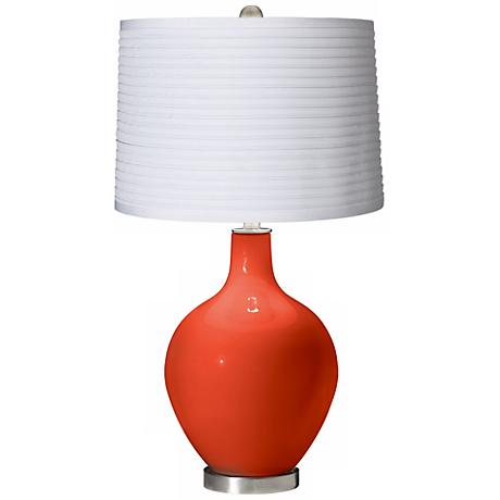 Daredevil White Pleated Shade Ovo Table Lamp