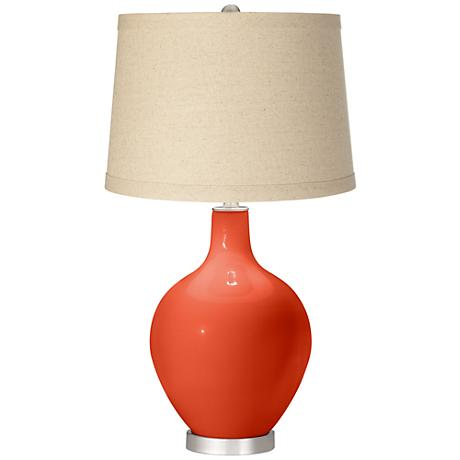 Daredevil Oatmeal Linen Shade Ovo Table Lamp