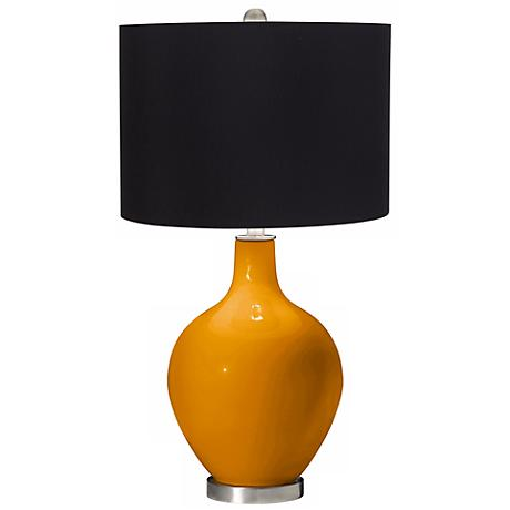 Carnival Black Shade Ovo Table Lamp